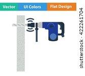 flat design icon of perforator...
