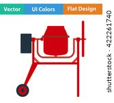 flat design icon of concrete...