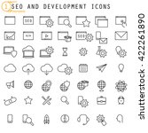 seo and development icons | Shutterstock .eps vector #422261890