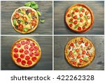 Collage Of Different Pizza On...
