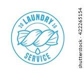 laundry service vector logo ... | Shutterstock .eps vector #422265154