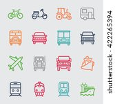 transportation color line icon | Shutterstock .eps vector #422265394