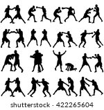 group of different poses of... | Shutterstock .eps vector #422265604