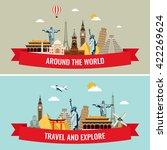 travel composition with famous... | Shutterstock .eps vector #422269624