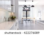 open kitchen and dining room in ... | Shutterstock . vector #422276089