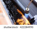 bitumen roofing | Shutterstock . vector #422284990