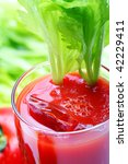 tomato juice or bloody mary, narrow focus - stock photo