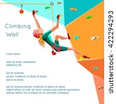 training climbing wall with... | Shutterstock .eps vector #422294293