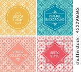 set of vintage frames in yellow ... | Shutterstock .eps vector #422296063
