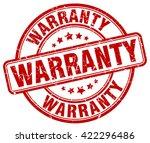 warranty. stamp | Shutterstock .eps vector #422296486