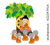 lord buddha's first sermon in... | Shutterstock .eps vector #422297914