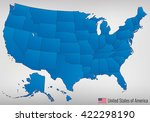 usa map with federal states.... | Shutterstock .eps vector #422298190