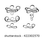 beautiful flourishes for... | Shutterstock . vector #422302570