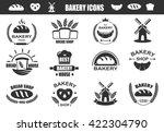 bakery logos with fresh bread ...