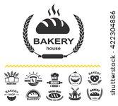 bakery logos with fresh bread ... | Shutterstock .eps vector #422304886