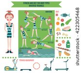 infographic  fitness and diet...   Shutterstock .eps vector #422305468