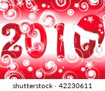 illustration of new year 2010...