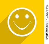 yellow flat design smile web... | Shutterstock . vector #422307448