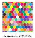 abstract colorful hexagon... | Shutterstock .eps vector #422311366
