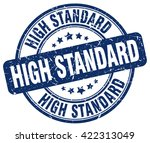 high standard. stamp | Shutterstock .eps vector #422313049