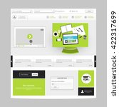 website template vector eps10 ... | Shutterstock .eps vector #422317699