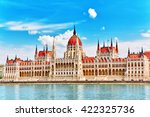 hungarian parliament at daytime.... | Shutterstock . vector #422325736