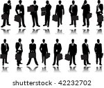 business man with briefcases | Shutterstock .eps vector #42232702