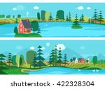 vector flat illustrations   eco ... | Shutterstock .eps vector #422328304