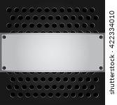 dark color of metal vector... | Shutterstock .eps vector #422334010