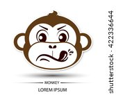 monkey face touchy logo and... | Shutterstock .eps vector #422336644