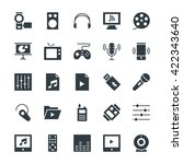 multimedia cool vector icons 4 | Shutterstock .eps vector #422343640