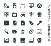 multimedia cool vector icons 4 | Shutterstock .eps vector #422343640