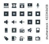 multimedia cool vector icons 2 | Shutterstock .eps vector #422343658