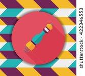 kitchenware pepper bottle flat... | Shutterstock .eps vector #422346553
