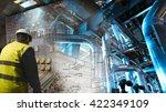 engineering man working on... | Shutterstock . vector #422349109