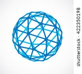 blue faceted orb created from... | Shutterstock .eps vector #422350198
