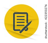dark pen and paper icon label... | Shutterstock .eps vector #422353276