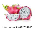 dragon fruit isolated on white... | Shutterstock . vector #422354869