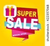super sale vector banner. ... | Shutterstock .eps vector #422357068