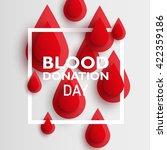 blood drop paper day blood... | Shutterstock .eps vector #422359186