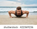 workout exercise. closeup of... | Shutterstock . vector #422369236