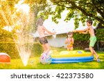 Boy Splashing Girls With Water...