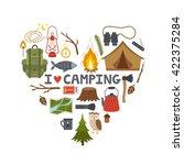 vector concept camping... | Shutterstock .eps vector #422375284