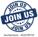 join us. stamp | Shutterstock .eps vector #422378719