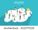 people group using internet... | Shutterstock .eps vector #422379220