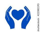 hands holding heart.   Shutterstock .eps vector #422382193