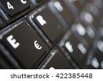 Detail Of A Black Dusty Laptop...