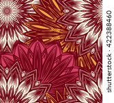 seamless floral background.... | Shutterstock . vector #422388460