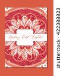 mandala vintage template card...   Shutterstock .eps vector #422388823
