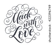 made with love vector text.... | Shutterstock .eps vector #422396749